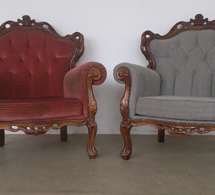 Vanagnes barok fauteuil for Barok stoel